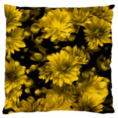 Phenomenal Blossoms Yellow Standard Flano Cushion Cases (two Sides)