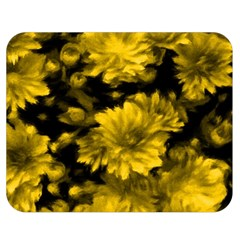 Phenomenal Blossoms Yellow Double Sided Flano Blanket (medium)