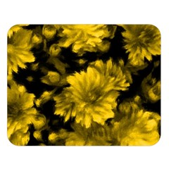 Phenomenal Blossoms Yellow Double Sided Flano Blanket (large)