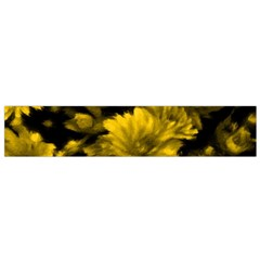 Phenomenal Blossoms Yellow Flano Scarf (small)