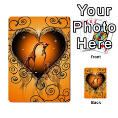 Funny Cute Giraffe With Your Child In A Heart Multi-purpose Cards (Rectangle)