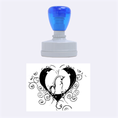 Funny Cute Giraffe With Your Child In A Heart Rubber Oval Stamps
