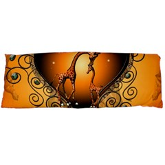 Funny Cute Giraffe With Your Child In A Heart Body Pillow Cases Dakimakura (two Sides)