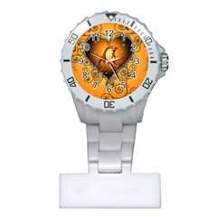 Funny Cute Giraffe With Your Child In A Heart Nurses Watches