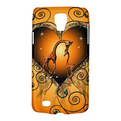 Funny Cute Giraffe With Your Child In A Heart Galaxy S4 Active