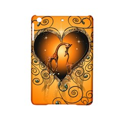 Funny Cute Giraffe With Your Child In A Heart Ipad Mini 2 Hardshell Cases
