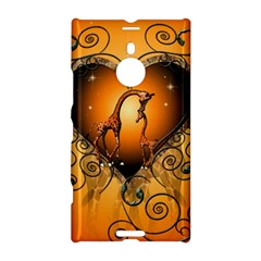 Funny Cute Giraffe With Your Child In A Heart Nokia Lumia 1520