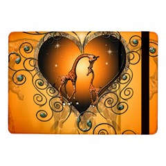 Funny Cute Giraffe With Your Child In A Heart Samsung Galaxy Tab Pro 10.1  Flip Case