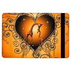 Funny Cute Giraffe With Your Child In A Heart Ipad Air Flip