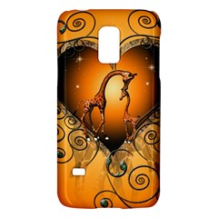 Funny Cute Giraffe With Your Child In A Heart Galaxy S5 Mini