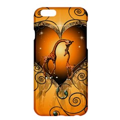 Funny Cute Giraffe With Your Child In A Heart Apple Iphone 6 Plus/6s Plus Hardshell Case
