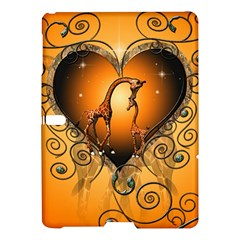 Funny Cute Giraffe With Your Child In A Heart Samsung Galaxy Tab S (10 5 ) Hardshell Case