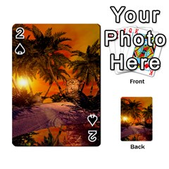 Wonderful Sunset In  A Fantasy World Playing Cards 54 Designs