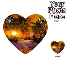 Wonderful Sunset In  A Fantasy World Playing Cards 54 (heart)