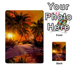 Wonderful Sunset In  A Fantasy World Multi Purpose Cards (rectangle)