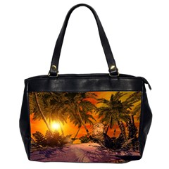 Wonderful Sunset In  A Fantasy World Office Handbags (2 Sides)