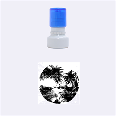 Wonderful Sunset In  A Fantasy World Rubber Round Stamps (Small)
