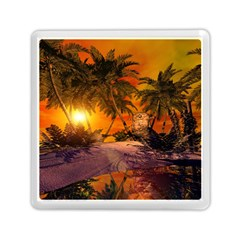 Wonderful Sunset In  A Fantasy World Memory Card Reader (Square)