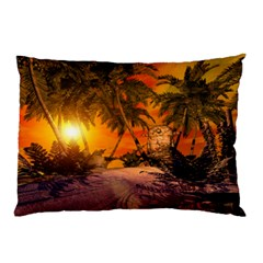 Wonderful Sunset In  A Fantasy World Pillow Cases (two Sides)