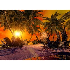 Wonderful Sunset In  A Fantasy World Birthday Cake 3D Greeting Card (7x5)