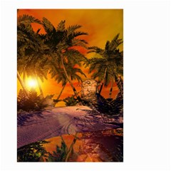 Wonderful Sunset In  A Fantasy World Small Garden Flag (Two Sides)