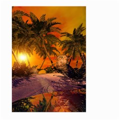 Wonderful Sunset In  A Fantasy World Large Garden Flag (two Sides)