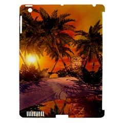 Wonderful Sunset In  A Fantasy World Apple iPad 3/4 Hardshell Case (Compatible with Smart Cover)
