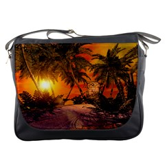 Wonderful Sunset In  A Fantasy World Messenger Bags