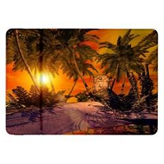 Wonderful Sunset In  A Fantasy World Samsung Galaxy Tab 8.9  P7300 Flip Case