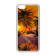 Wonderful Sunset In  A Fantasy World Apple Iphone 5c Seamless Case (white)