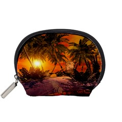 Wonderful Sunset In  A Fantasy World Accessory Pouches (Small)