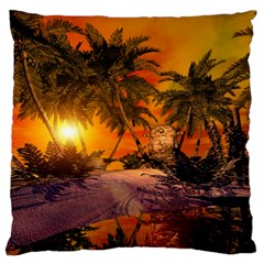 Wonderful Sunset In  A Fantasy World Standard Flano Cushion Cases (two Sides)