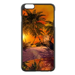 Wonderful Sunset In  A Fantasy World Apple Iphone 6 Plus/6s Plus Black Enamel Case
