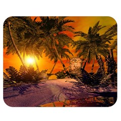 Wonderful Sunset In  A Fantasy World Double Sided Flano Blanket (Medium)