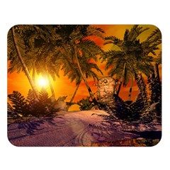 Wonderful Sunset In  A Fantasy World Double Sided Flano Blanket (Large)