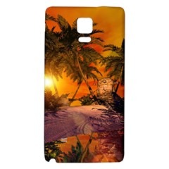 Wonderful Sunset In  A Fantasy World Galaxy Note 4 Back Case