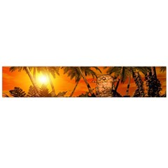 Wonderful Sunset In  A Fantasy World Flano Scarf (large)