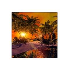 Wonderful Sunset In  A Fantasy World Satin Bandana Scarf