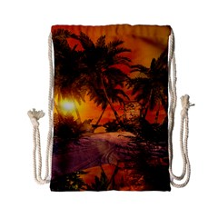 Wonderful Sunset In  A Fantasy World Drawstring Bag (small)