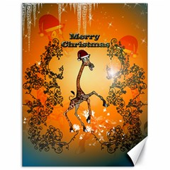 Funny, Cute Christmas Giraffe Canvas 18  x 24