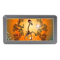 Funny, Cute Christmas Giraffe Memory Card Reader (Mini)