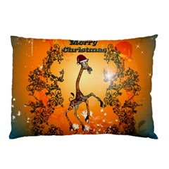 Funny, Cute Christmas Giraffe Pillow Cases (two Sides)