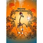 Funny, Cute Christmas Giraffe GIRL 3D Greeting Card (7x5)  Inside