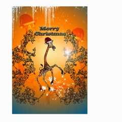 Funny, Cute Christmas Giraffe Large Garden Flag (Two Sides)