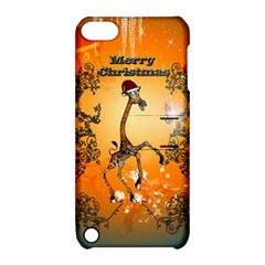 Funny, Cute Christmas Giraffe Apple iPod Touch 5 Hardshell Case with Stand