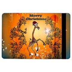 Funny, Cute Christmas Giraffe iPad Air 2 Flip