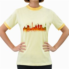 Barcelona 02 Women s Fitted Ringer T Shirts