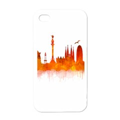 Barcelona 02 Apple iPhone 4 Case (White)