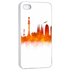 Barcelona 02 Apple iPhone 4/4s Seamless Case (White)