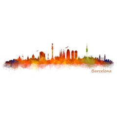 Barcelona 02 YOU ARE INVITED 3D Greeting Card (8x4)